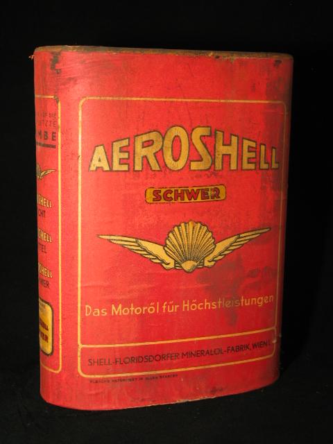 Aeroshell kartonnen olieblik