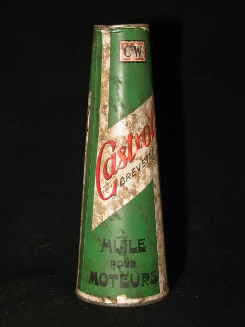Conisch Castrol olieblik